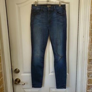 MOTHER jeans High Waisted Looker distressed